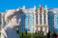 pushkin selo tsarskoye 圣彼德堡 俄国 凯瑟琳公园雕塑 库存图片