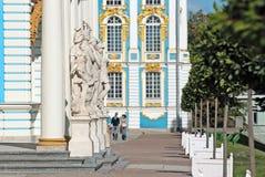 pushkin selo tsarskoye 圣彼德堡 俄国 凯瑟琳宫殿 图库摄影