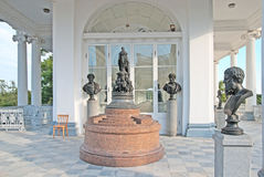 pushkin selo tsarskoye 圣彼德堡 俄国 卡梅伦画廊 免版税库存照片