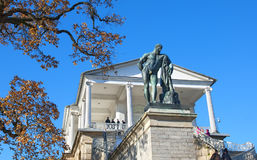pushkin selo tsarskoye 圣彼德堡 俄国 赫拉克勒斯雕象 库存图片