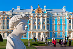 pushkin selotsarskoye St Petersburg Ryssland Catherine Park Sculpture Royaltyfria Foton