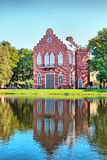 pushkin selotsarskoye St Petersburg Ryssland Den Amiralitetet paviljongen Arkivbilder