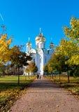 pushkin selotsarskoye St Petersburg Ryssland Kyrka av martyren för St Catherine Arkivfoto