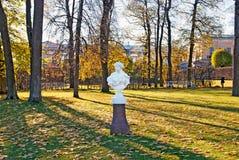 pushkin selotsarskoye St Petersburg Ryssland Primavera skulptur Fotografering för Bildbyråer