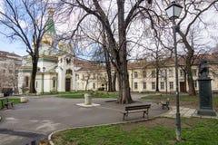 Pushkin Square in Sofia, Bulgaria Royalty Free Stock Photography