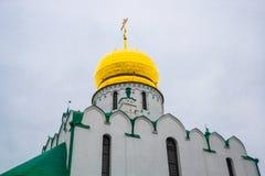 Pushkin, St Petersburg, Rússia O sovereign& x27 de Feodorovsky da igreja ortodoxa; catedral de s em Tsarskoye Selo foto de stock