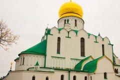 Pushkin, St Petersburg, Rússia O sovereign& x27 de Feodorovsky da igreja ortodoxa; catedral de s em Tsarskoye Selo imagens de stock