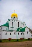 Pushkin, St Petersburg, Rússia O sovereign& x27 de Feodorovsky da igreja ortodoxa; catedral de s em Tsarskoye Selo imagem de stock