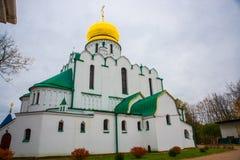 Pushkin, St Petersburg, Rússia O sovereign& x27 de Feodorovsky da igreja ortodoxa; catedral de s em Tsarskoye Selo fotografia de stock