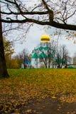 Pushkin, St Petersburg, Rússia O sovereign& x27 de Feodorovsky da igreja ortodoxa; catedral de s em Tsarskoye Selo foto de stock royalty free