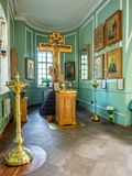 Inside of Znamenskaya church in Catherine palace, Russia royalty free stock images