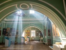 Inside of Znamenskaya church in Catherine palace, Russia stock photos