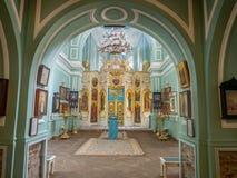 Inside of Znamenskaya church in Catherine palace, Russia royalty free stock photo