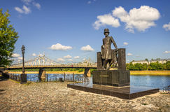 Pushkin in Tver Royalty Free Stock Images