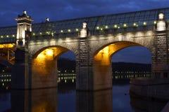 Pushkinskiy foot-bridge Stock Photo