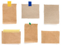 Pushpin и проверенная бумага примечания Стоковое фото RF