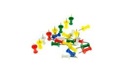 pushpin серии цвета Стоковое Фото