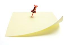 pushpin столба бумаги примечания Стоковое Изображение RF