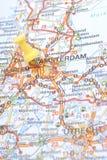 pushpin amsterdam Голландии маркированный Стоковое фото RF