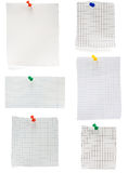 Pushpin and checked note paper Stock Photography
