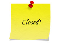 Pushpin closed note Royalty Free Stock Image