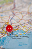 Pushpin on the map Stock Photography