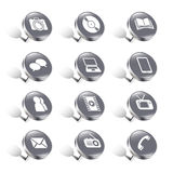 Pushpin media/communication icons Stock Images