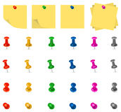 Pushpin and Note Stock Image