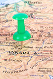 Pushpin Pointing Ankara Stock Photos