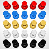 Pushpin Push Pins Colorful Vector Stock Images