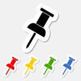 Pushpin sticker set Stock Images