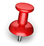 Pushpin vermelho Imagens de Stock Royalty Free