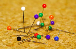 Pushpins Stock Photo
