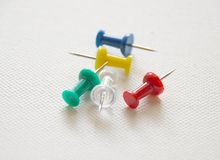 Pushpins- assorted Stock Images