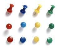 pushpins för affärssamlingskontor Royaltyfri Fotografi