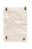 pushpins för blankt papper Royaltyfria Foton