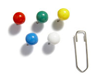 Pushpins new 1 Stock Photography
