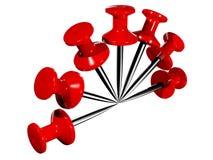 Pushpins plásticos coloridos Imagens de Stock Royalty Free