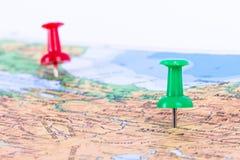 Free Pushpins Pointing Ankara And Istanbul Stock Image - 40041791