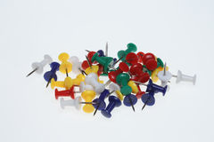 Pushpins or pushneedles Royalty Free Stock Photography