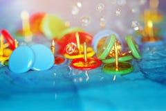 Pushpins and rain Stock Photo