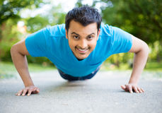 Pushup contest Stock Images