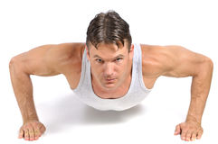 Pushup exercise Royalty Free Stock Images
