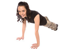 Pushup smiling Stock Photography