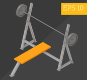 Pushups bench isometric vector illustration Stock Photography