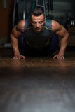 Pushups Lower Position Stock Photo