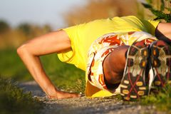 Pushups man Royalty Free Stock Photo