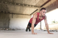 Pushups royalty free stock photo