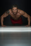 Pushups Upper Position Royalty Free Stock Images