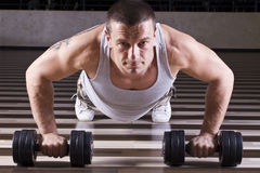 Pushups workout Stock Photography